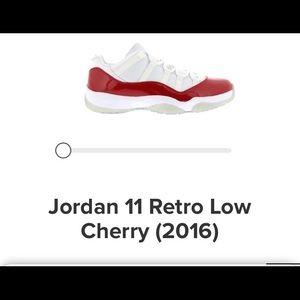 Jordan 11 retro low cherry